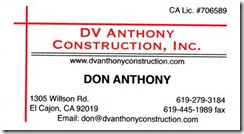Don Anthony Contruction